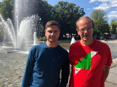 BU-kandidatene Vegard Kjendsli fra Nordstrand, til venstre, og Steinar Fuglevaag, Østensjø.