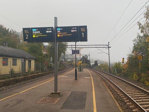 FULL STOPP: Alle tog som går forbi Nordstrand stasjon var lørdag morgen innstilt.