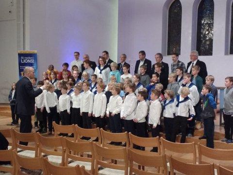 Sølvguttene øver i Nordstrand kirke
