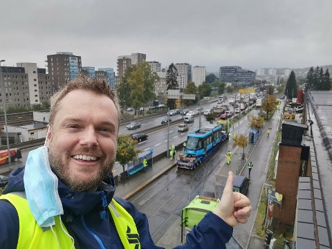 UNDERSKRIFTSKAMPANJE: Sebastian mener en trikk fra Nordstrand over Grønland hadde koblet bydelene mer sammen. Han har nå laget en underskriftskampanje for å fremme forslaget.