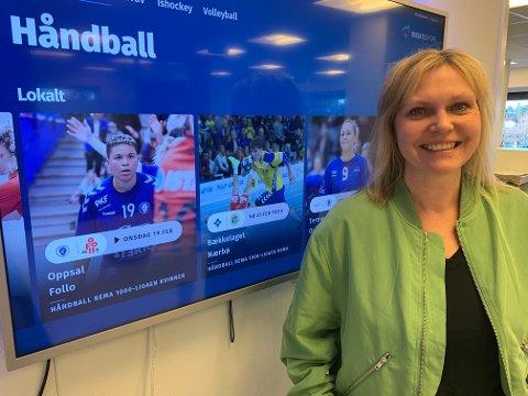 SPORT: Ansvarlig redaktør i Nordstrands Blad, Kristin Stoltenberg, gleder seg over at avisens lesere kan se lokal sport på enda flere plattformer.