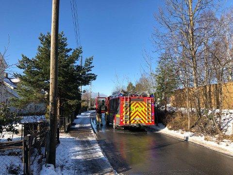 Brann i lyktestolpe ved Brannfjell skole