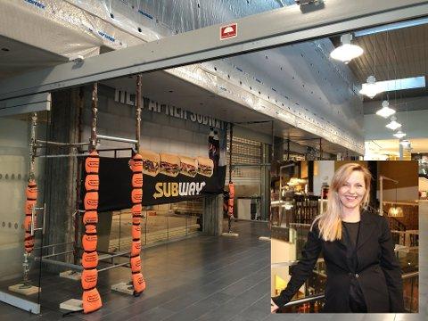 I denne korridoren på Lambertseter senter skal det skje en skikkelig fornyelse. Subway åpner i august, Intersport til høsten og i etasjen over Subway og Oxholm lages det et nytt lokale - her kommer et ennå ukjent serveringssted.
