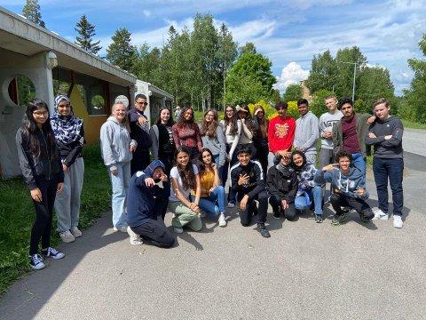 10C ved Lofsrud skole var glade for å endelig kunne samles rett før ferien.
