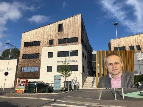 KREVENDE: Rektor Anton Rygg ved Munkerud skole har en fjerdedel av sine ansatte i karantene.