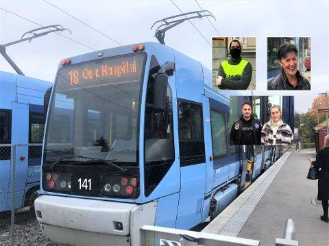 TRØBLETE: Det kan bli vanskelig for trikkereisende fra Nordstrand når trikken stopper på Oslo Hospital og det ikke kjøres buss for trikk videre til sentrum.