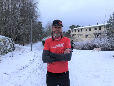 FØR LØPET: Her er Asgeir Hjorthaug straks klar til å starte løpet.