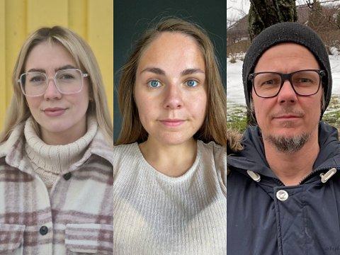 ØNSKER Å BEVARE ALLE BARNEHAGER: Foreldrene i barnehager, som nå ikke blir nevnt av bydelsadministrasjonen, har stor empati for berørte foreldre og barn. Til høyre ses Jan Bjørge Wangen (43), Tina Eugenie Bakaas (24), og Lotte Larsen (31).