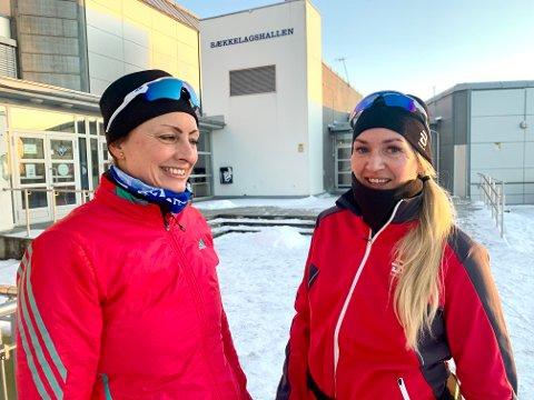 KJEDELIG: Hanne Cathrine Eliesen Hugdal (venstre) og Linn Mangset tror ikke det blir noe spill med BSks damelag i 2. divisjon denne sesongen.