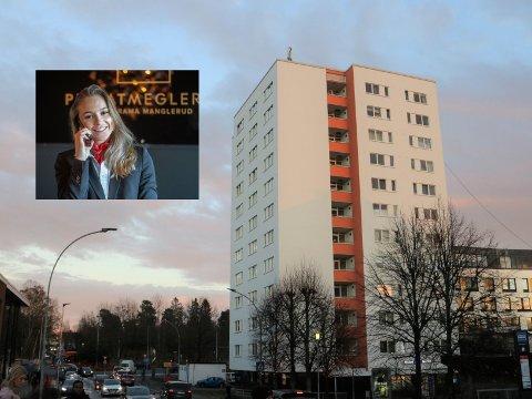 Eiendomsmegler Line Doksum forteller til Nordstrands Blad at høyblokka på Lambertseter er populær for førstegangskjøpere.