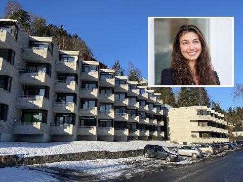 Eiendomsmegler i DNB Eiendom, Alexandra Horsley, er godt fornøyd med salg av leilighet i Munkerudkleiva 10.