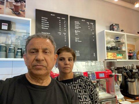 Tauqir Rashid og kona Nadira tapte omsetning etter at serveringsbransjen kun fikk tilby take-away.