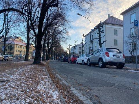 SYKKELTRASÉ: Bilene skal vekk og rød asfalt skal på plass for syklistene. Det provoserer mange av dem som bor i Gyldenløves gate og området rundt.