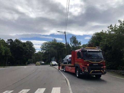 Torsdag 1. juli var det en trafikkulykke mellom en MC og en bil i Ljabruveien.