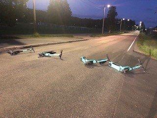 Slik så Ekebergveien ut natt til torsdag da Marit kom kjørende.