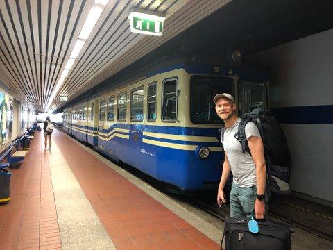 Erik Sveberg Dietrichs elsker å reise med tog. – Jeg liker å se og oppleve ting underveis på en reise, noe man ikke gjør hvis man tar fly, sier han.