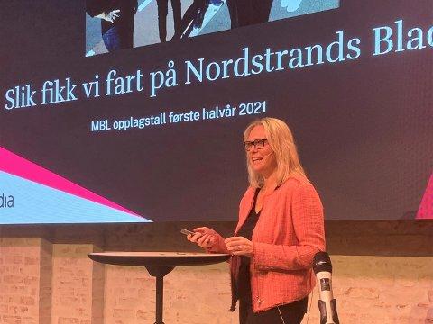 Redaktør Kristin Stoltenberg fortalte om hvordan Nordstrands Blad jobber for å lage en stadig bedre lokalavis for leserne.