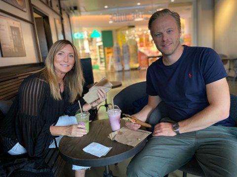 Liv Gunnarsson og Glenn Engebretsen skal rett ut og feire bursdag i kveld.