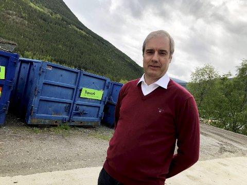 Overskudd: Daglig leder i Nord-Gudbrandsdal Renovasjonsselskap, Pål Sverre Andgard, sier selskapet fikk et overskudd på 763.000 kroner i 2018.