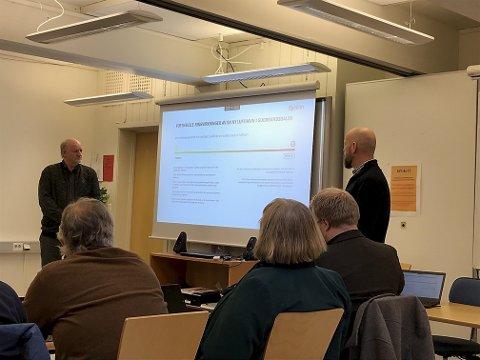Erling Lusæter og Roar Valbjørgsløkken i Gudbrandsdal Lufthavn AS orienterte regionrådet om mulighetene for en flyplass med mest mulig elektrisk drift.