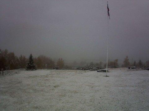 Vinterlig på Høvringen.
