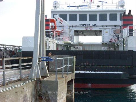 SMAL: Sånn er størrelsesforholdet mellom Kvernsund og fergeleiet på Bjarkøy som skipet skal trafikkere.