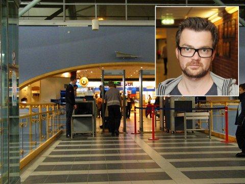 INGEN NÅDE: Tore Bruvoll ble vitne til at hans sønn på ett år ble kroppsvisitert etter en tilfeldig utvelgelse i sikkerhetskontrollen på Tromsø lufthavn.