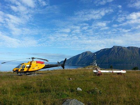 HeliScan-helikopter. Illustrasjonsfoto.