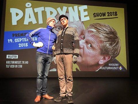 FinnArve Sørbøe og Knut Are Mortensen ser frem til nye sprell med Påtryneteateret. Det gjør publikum også, skal man dømme etter billettsalget.