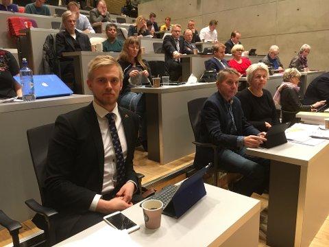 KLART VEDTAK: - Vi tår fast på at vi fortsatt ønsker å løse Tromsø sine utfordringer, sier Brage Larsen Sollund, som la fram flertallsforslaget om bompengeordning og bymiljøavtale onsdag.