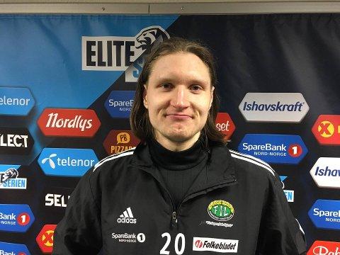 BANENS BESTE SPILLER: Vebjørn Grunnvoll spilte 45 minutter mot TIL 2. På den tiden rakk angrepsspilleren å score tre mål.