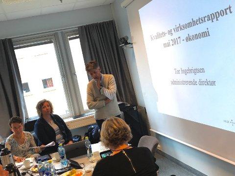 ORIENTERER STYRET: Sykehusdirektør Tor Ingebrigtsen orienterte onsdag morgen UNN-styret om en alvorlig økonomisk situasjon.