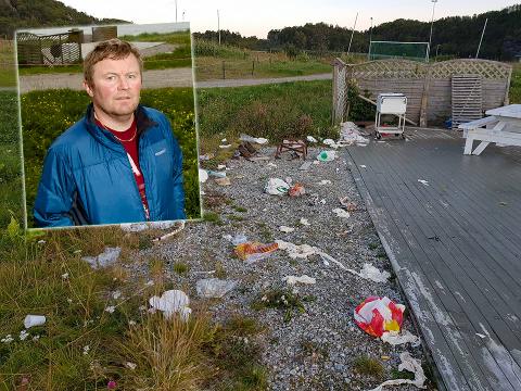 FORBANNA: Trond Ludvigsen vil få bukt på turister som forsøpler Sommarøy.