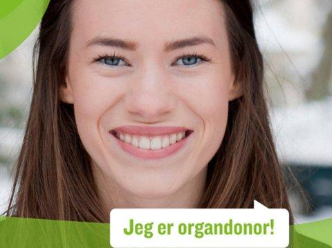 STOR RESPONS: På to døgn har 25.000 nordmenn endret profilbildet på Facebook, for å vise at de er organdonorer. (Stiftelsen Organdonasjon/faksimile)
