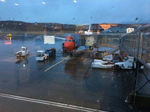 SNU: Dette Norwegian-flyet måtte mandag morgen snu etter å ha tatt av fra Tromsø lufthavn Langnes.
