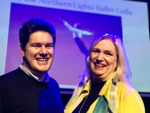 FORNØYDE: Direktør Line Fusdahl og kommunikasjonssjeg Kent-Einar Myreng i Nordlysfestivalen er strålende fornøyd med 2019-programmet. De ønsker blant annet Bolsjoj-balletten tilbake til Tromsø.