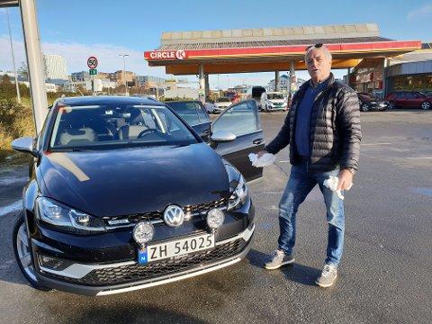 DYRT: Bilist Jan Arvid Jakobsen synes drifstoffprisene er for høye.