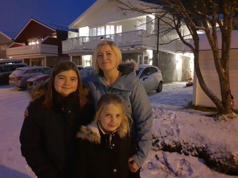 RENTEKUTT:  Catrine og barna Vilde  og Matihilde får emr og rutte med når renta går  ned.
