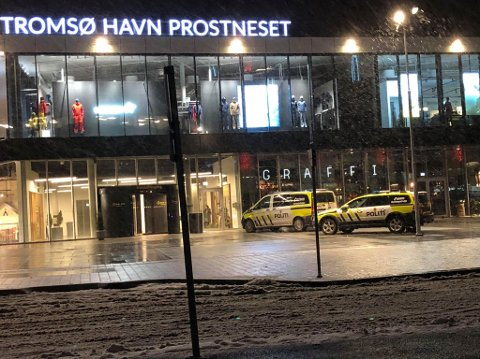 RYKKET UT: Politiet har kontroll på fem personer etter melding om et tyveri på havneterminalen i Tromsø lørdag ettermiddag.