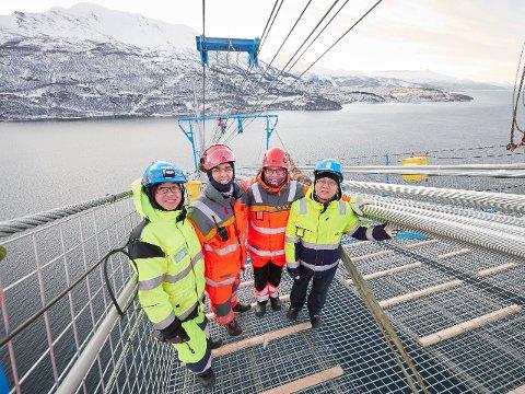 Hålogalandsbrua utenfor Narvik er en av vei-prosjektene som bygges ferdig. Foto: Kristoffer Klem Bergersen
