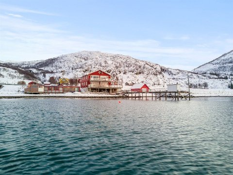 TIL SALGS: Buvika brygge på Kvaløya er nå lagt ut til salgs.