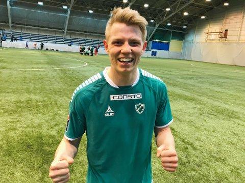 MATCHVINNER: Yngvar Johansen var mannen som skulle sende Fløya videre i cupen etter 107 minutter.