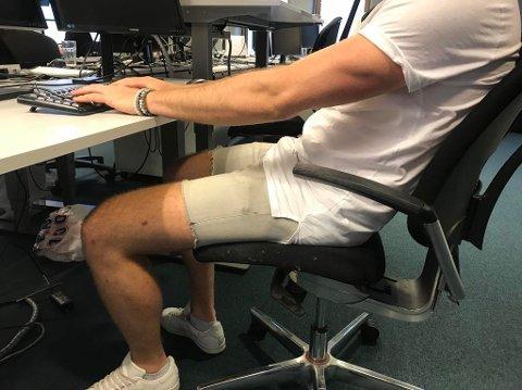 JOBBANTREKK: Er det greit å gå i shorts på jobb? Nei, mener redaktør i danske Jyllands-posten.