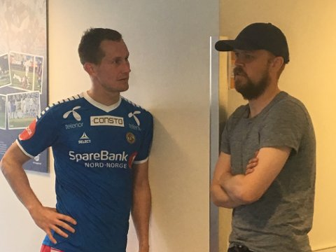 REFSET VERTENE: Morten Gamst Pedersen, her i samtale med Christian Grindheim, likte ikke måten Haugesund spilte fotball på.