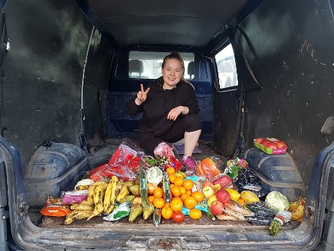 ZERO WASTE VAN: I denne bilen skal Amalia bo de kommende månedene for å leve avfallsfritt.