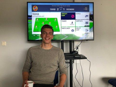 2-1 IGJEN: Jostein Gundersen forsøkte å gjenoppleve mandagens seier mot Rosenborg på FIFA.