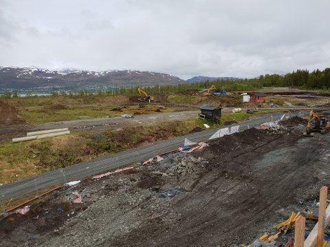 GRAVES: Arbeidet med å bygge nytt skiskytteranlegg og skistadion er godt igang på Templarheimen.