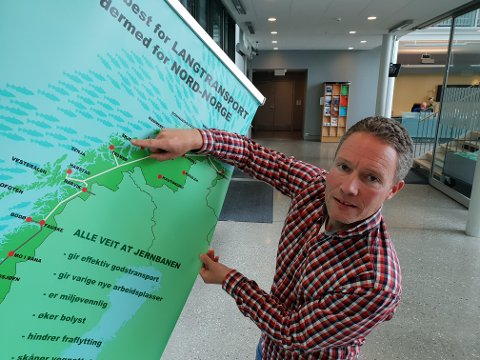 ENTUSIAST: Henrik Romsaas vil ha jernbane i nord og legge ned flyplassene i Tromsø og Evenes