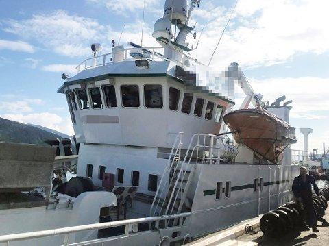 ARBEID: Gasslekkasjen oppsto da det ble utført teknisk arbeid på et CO2-anlegg på båten.