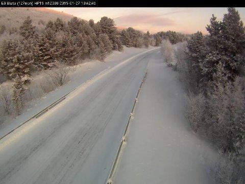 KALDEST: Målingene fra det siste døgnet viser at det var hele 37,6 minusgrader i Karasjok.